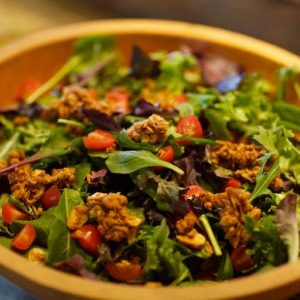 Salad with mitzis fresh mountain granola